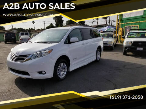 2011 Toyota Sienna for sale at A2B AUTO SALES in Chula Vista CA