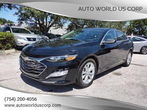 2020 Chevrolet Malibu for sale at Auto World US Corp in Plantation FL