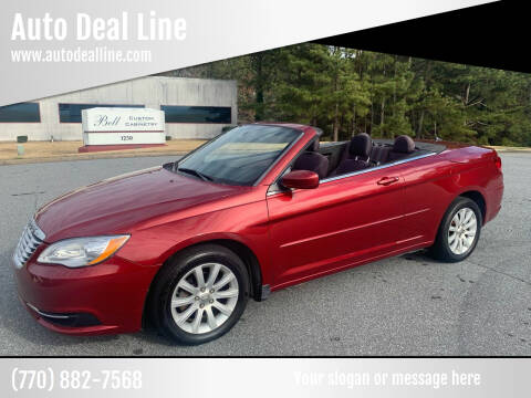 2014 Chrysler 200 Convertible for sale at Auto Deal Line in Alpharetta GA