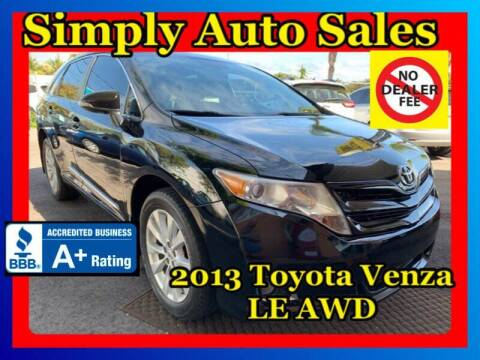 2013 Toyota Venza for sale at Simply Auto Sales in Palm Beach Gardens FL