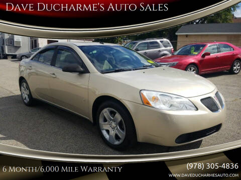 2009 Pontiac G6 for sale at Dave Ducharme's Auto Sales in Lowell MA