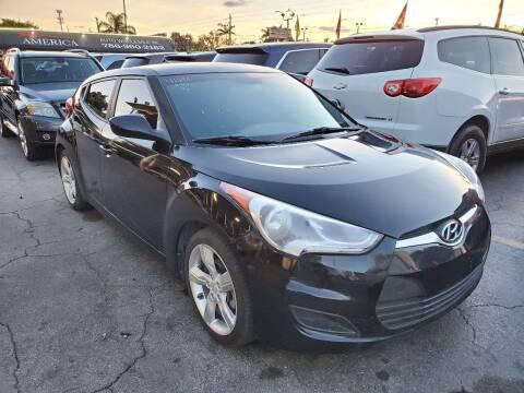 2014 Hyundai Veloster for sale at America Auto Wholesale Inc in Miami FL