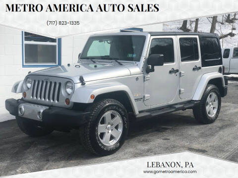 2011 Jeep Wrangler Unlimited for sale at METRO AMERICA AUTO SALES of Lebanon in Lebanon PA