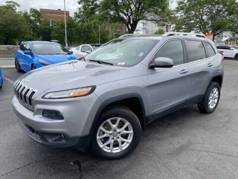 2014 Jeep Cherokee for sale at Sonias Auto Sales in Worcester MA