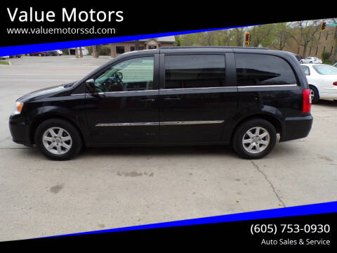 2012 Chrysler Town and Country for sale at Value Motors in Watertown SD
