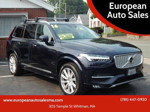 2016 Volvo XC90 for sale at European Auto Sales in Whitman MA
