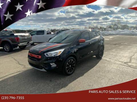 2017 Ford Escape for sale at Paris Auto Sales & Service in Big Rapids MI