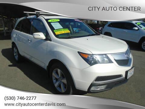 2012 Acura MDX for sale at City Auto Center in Davis CA