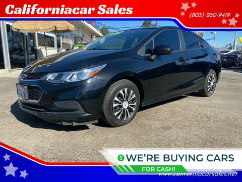 2018 Chevrolet Cruze for sale at Californiacar Sales in Santa Maria CA