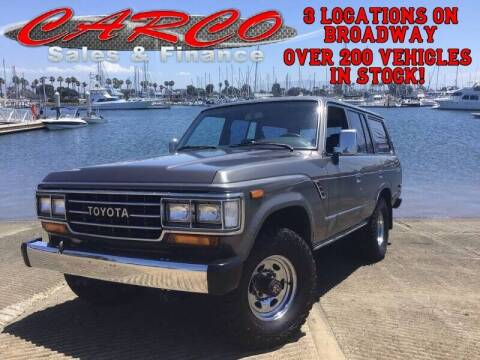 1989 Toyota Land Cruiser for sale at CARCO SALES & FINANCE in Chula Vista CA