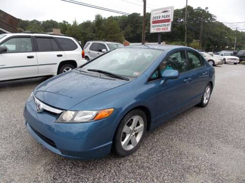 2008 Honda Civic for sale at Deer Park Auto Sales Corp in Newport News VA