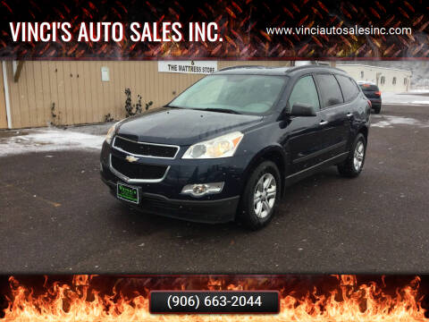 2012 Chevrolet Traverse for sale at Vinci's Auto Sales Inc. in Bessemer MI