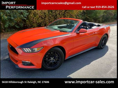 2015 Ford Mustang for sale at Import Performance Sales in Raleigh NC