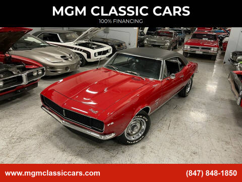 1967 Chevrolet Camaro for sale at MGM CLASSIC CARS in Addison IL