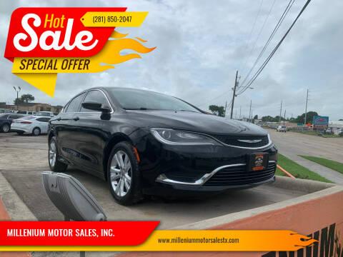2015 Chrysler 200 for sale at MILLENIUM MOTOR SALES, INC. in Rosenberg TX