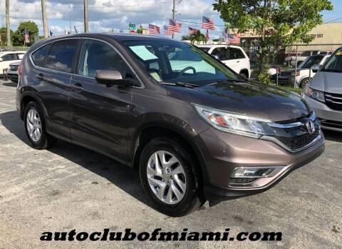 2015 Honda CR-V for sale at AUTO CLUB OF MIAMI in Miami FL