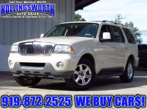 2005 Lincoln Aviator for sale at Hollingsworth Auto Sales in Raleigh NC