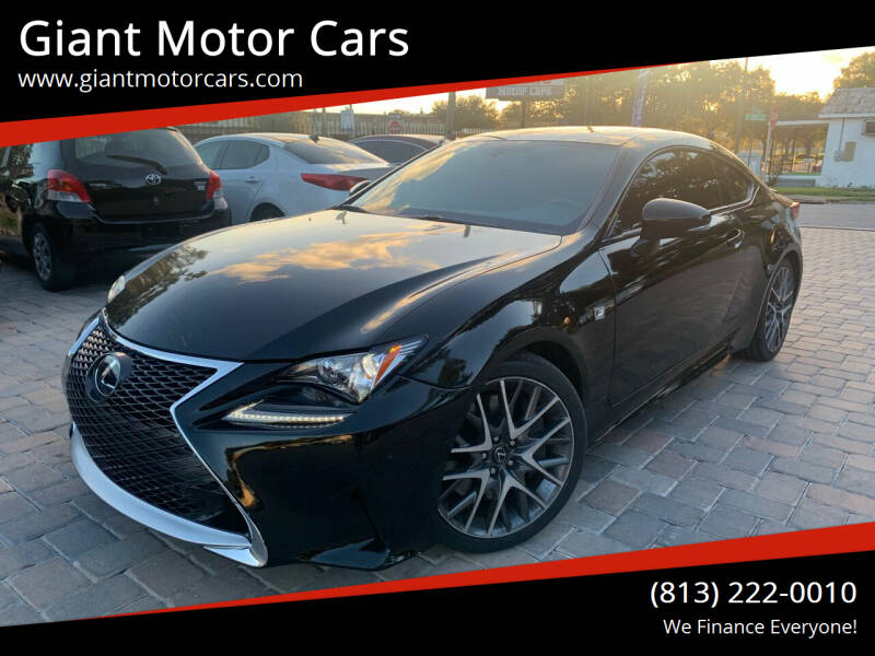 2015 Lexus RC 350 for sale at Giant Motor Cars in Tampa FL
