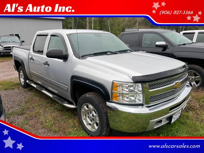 2012 Chevrolet Silverado 1500 for sale at Al's Auto Inc. in Bruce Crossing MI