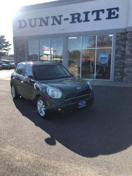 2013 MINI Countryman for sale at Dunn-Rite Auto Group in Kilmarnock VA