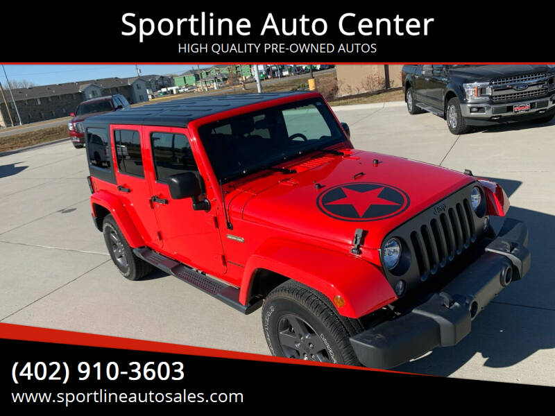 2016 Jeep Wrangler Unlimited for sale at Sportline Auto Center in Columbus NE