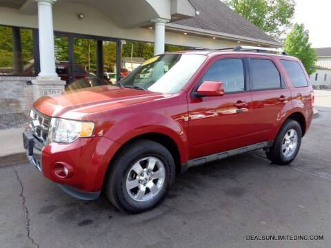 2011 Ford Escape for sale at DEALS UNLIMITED INC in Portage MI