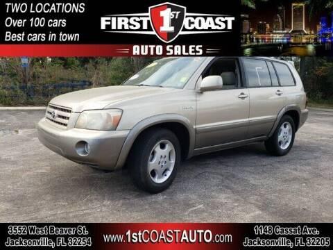 2004 Toyota Highlander for sale at 1st Coast Auto -Cassat Avenue in Jacksonville FL