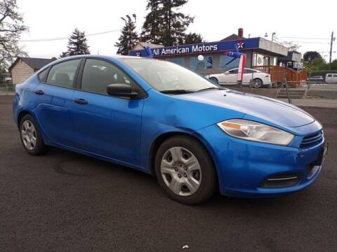 2016 Dodge Dart for sale at All American Motors in Tacoma WA