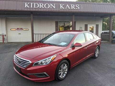 2016 Hyundai Sonata for sale at Kidron Kars INC in Orrville OH