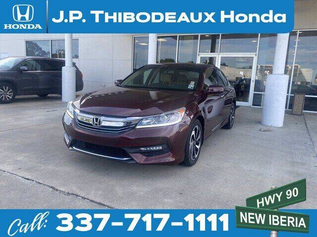 2017 Honda Accord for sale at J P Thibodeaux Used Cars in New Iberia LA
