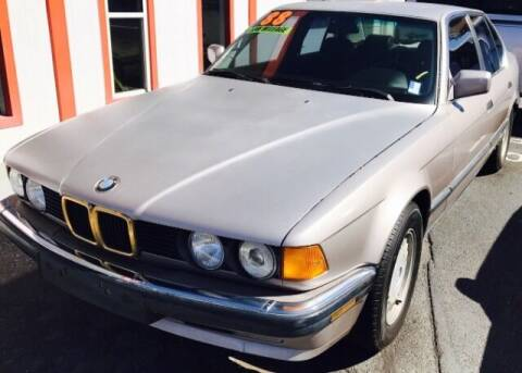 1988 BMW 7 Series for sale at ALBUQUERQUE AUTO OUTLET in Albuquerque NM