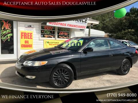 2002 Toyota Camry Solara for sale at Acceptance Auto Sales Douglasville in Douglasville GA