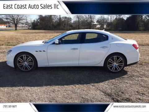 2015 Maserati Ghibli for sale at East Coast Auto Sales llc in Virginia Beach VA