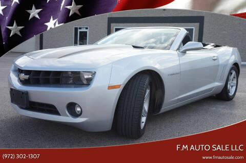 2012 Chevrolet Camaro for sale at F.M Auto Sale LLC in Dallas TX