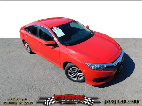 2017 Honda Civic for sale at PRIME MOTORS LLC in Arlington VA