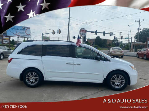 2011 Honda Odyssey for sale at A & D Auto Sales in Joplin MO