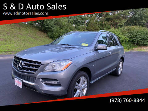 2012 Mercedes-Benz M-Class for sale at S & D Auto Sales in Maynard MA