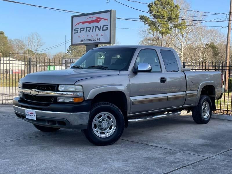 2002 Chevrolet Silverado 2500HD for sale at Spring Motors in Spring TX