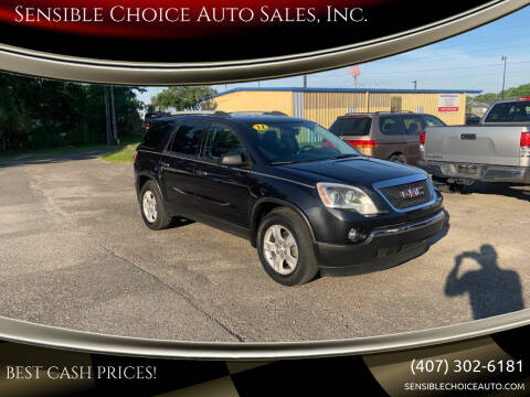 2012 GMC Acadia for sale at Sensible Choice Auto Sales, Inc. in Longwood FL