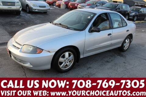 2004 Chevrolet Cavalier for sale at Your Choice Autos in Posen IL