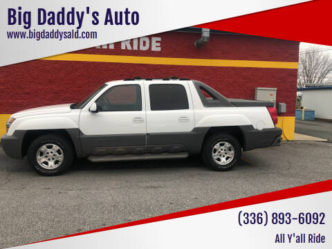 2002 Chevrolet Avalanche for sale at Big Daddy's Auto in Winston-Salem NC