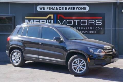 2015 Volkswagen Tiguan for sale at Meru Motors in Hollywood FL
