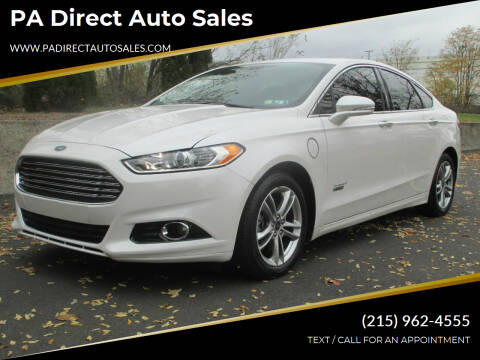 2015 Ford Fusion Energi for sale at PA Direct Auto Sales in Levittown PA