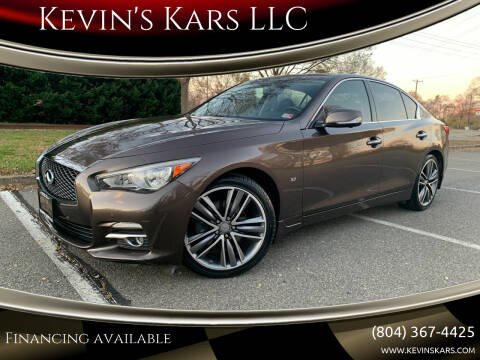 2014 Infiniti Q50 for sale at Kevin's Kars LLC in Richmond VA