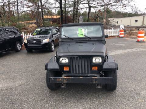 1991 Jeep Wrangler for sale at U FIRST AUTO SALES LLC in East Wareham MA