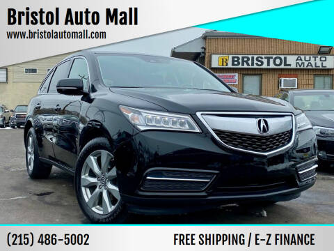 2016 Acura MDX for sale at Bristol Auto Mall in Levittown PA