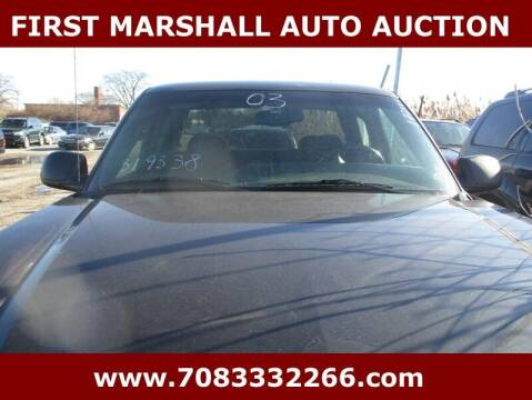 2003 Chevrolet Silverado 1500 for sale at First Marshall Auto Auction in Harvey IL