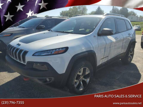 2015 Jeep Cherokee for sale at Paris Auto Sales & Service in Big Rapids MI