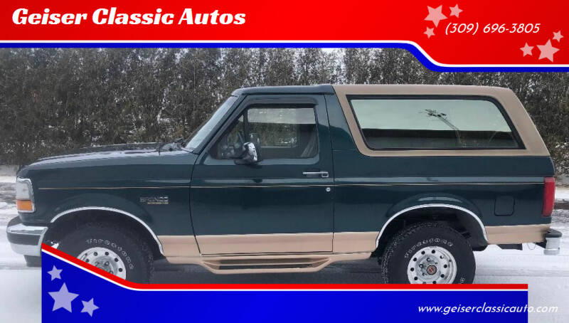 1994 Ford Bronco for sale at Geiser Classic Autos in Roanoke IL