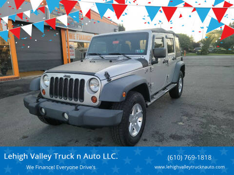 2012 Jeep Wrangler Unlimited for sale at Lehigh Valley Truck n Auto LLC. in Schnecksville PA